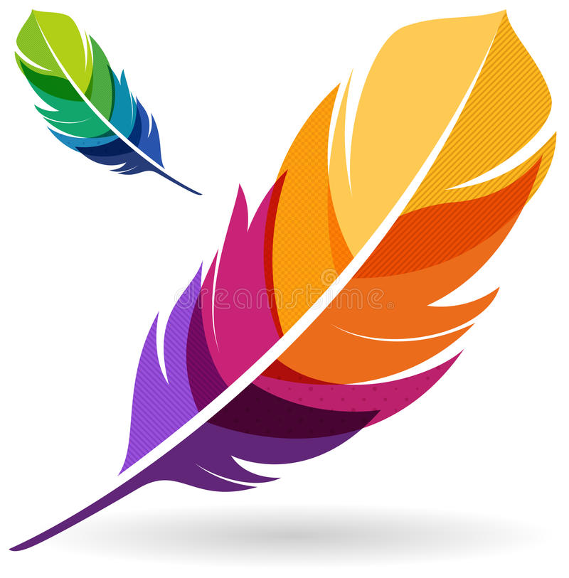 Colorful Feathers stock illustration