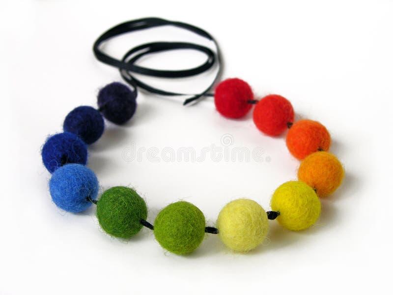 Colorful felt necklace royalty free stock photo