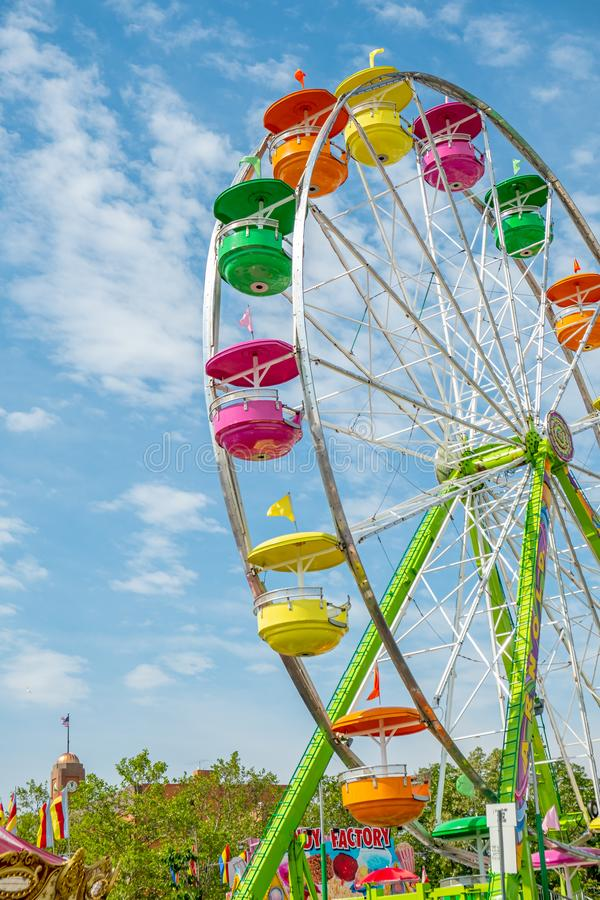 Colorful Ferris Wheel amusement ride royalty free stock images