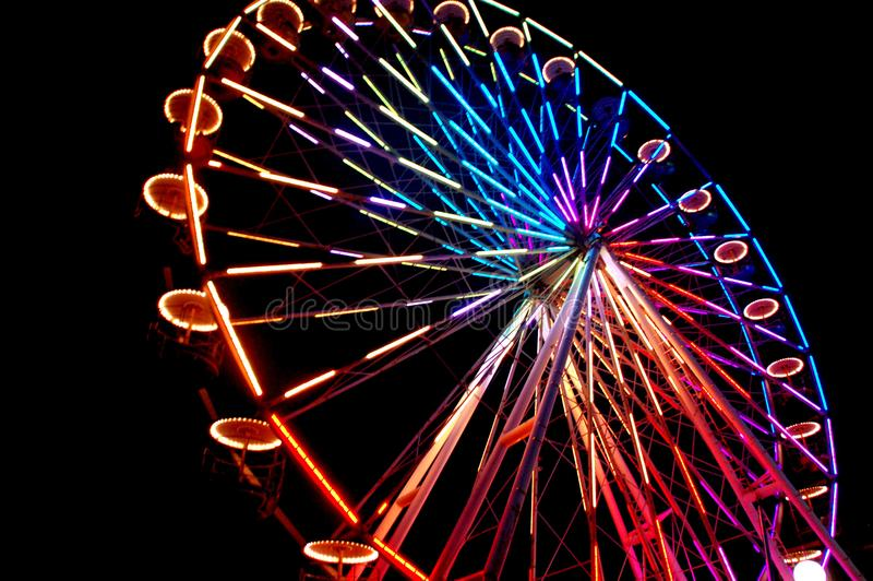 Colorful Ferris wheel at the carnival royalty free stock image