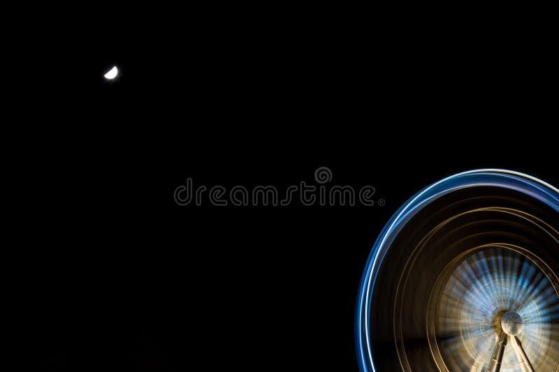 Colorful ferris wheel in motion. Niagara Falls, Ontario Canada stock photos