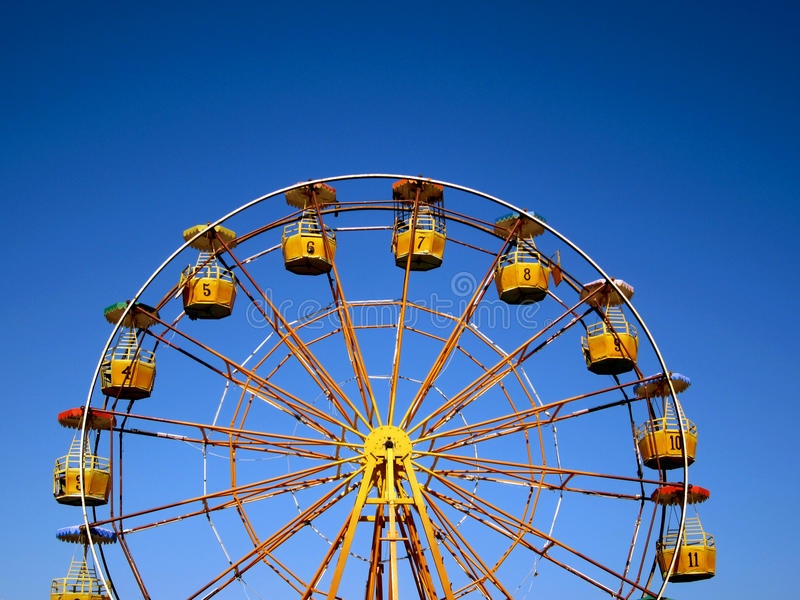 Colorful Ferris Wheel At Park Stock Image - Image of holiday, frame ...