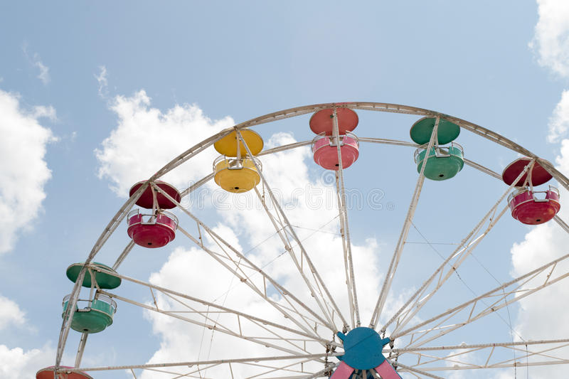 Colorful ferris wheel on summer day royalty free stock image