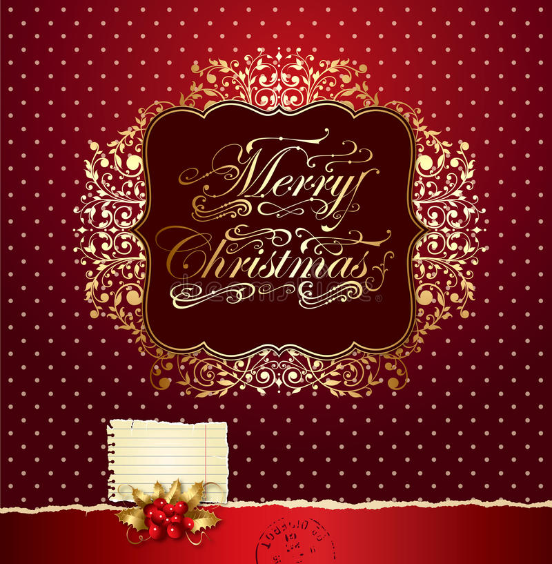 Download Colorful Festive Christmas Card Stock Vector - Image: 21941102
