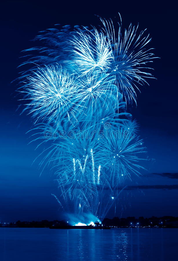 Download Colorful Firework In A Night Sky Stock Image - Image of fantastic, happy: 24995383