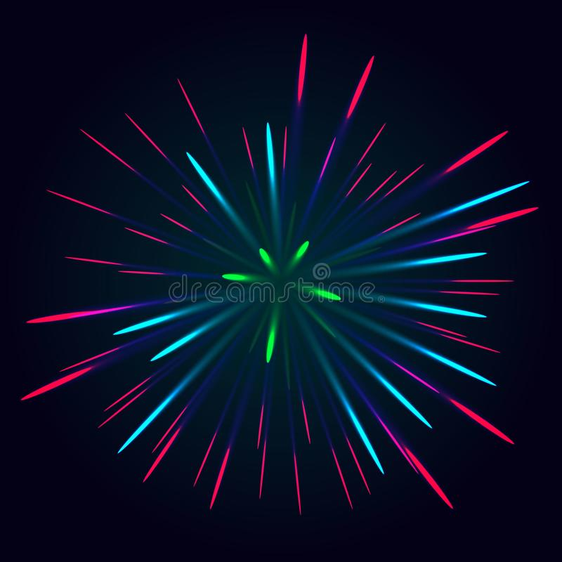Free Colorful Firework Vector Royalty Free Stock Photo - 140498285