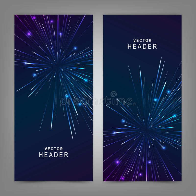 Colorful Firework. Website header or banner set. Fully editable. Vector illustration EPS10 vector illustration