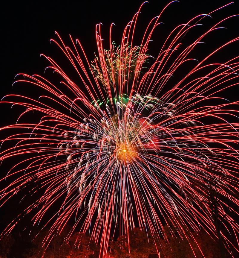 Colorful fireworks royalty free stock photos