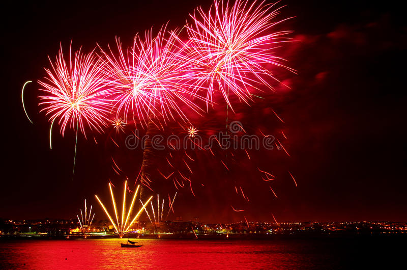 Download Colorful Fireworks stock image. Image of explosion, entertainment - 22391015