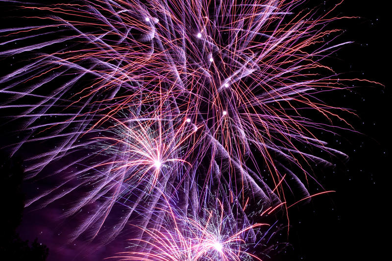 Download Colorful Fireworks On The Black Sky Stock Photo - Image of display, background: 32112100