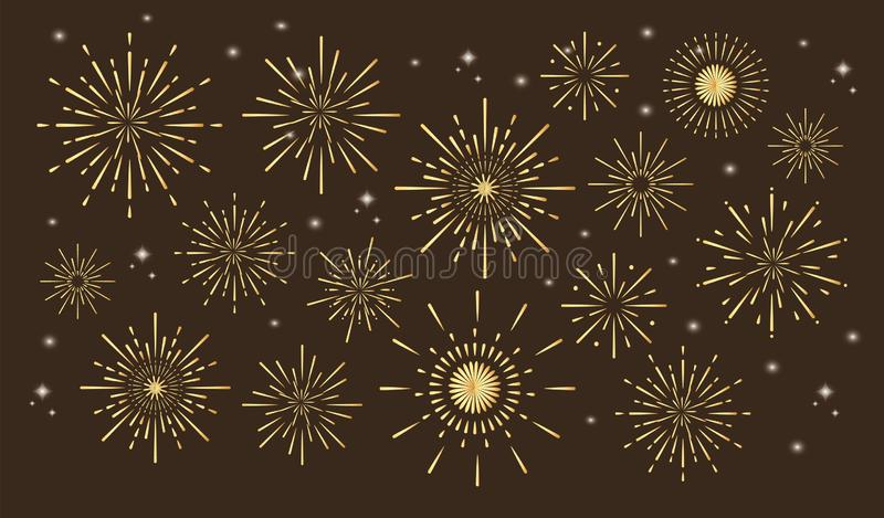 Colorful fireworks vector illustration
