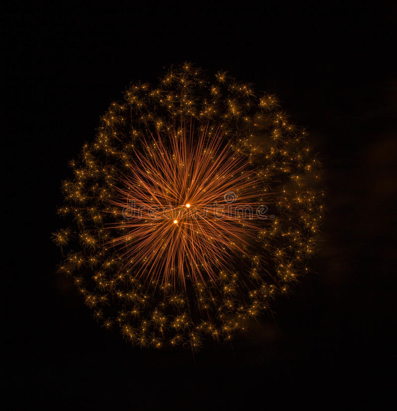 A colorful fireworks stock image