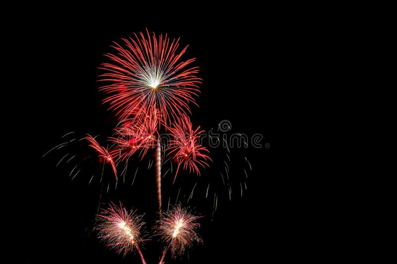 Colorful of fireworks royalty free stock photos