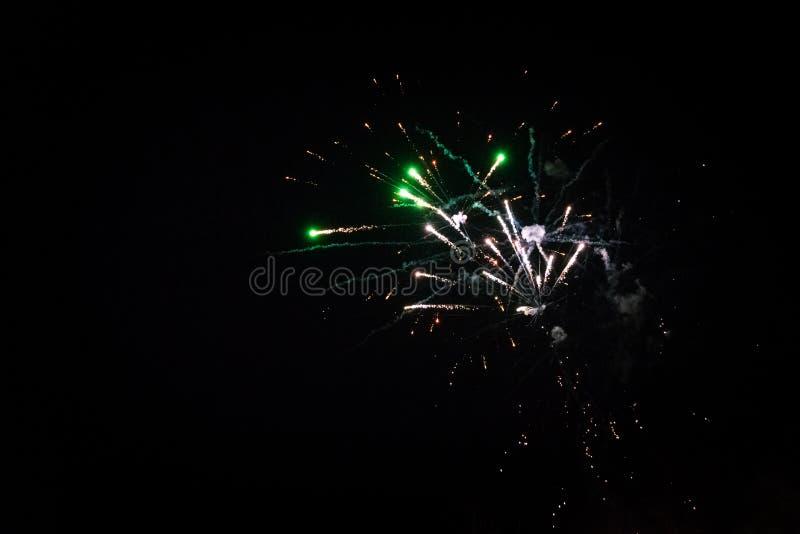 Colorful fireworks. Fireworks light up the sky - exploding firework stock photo
