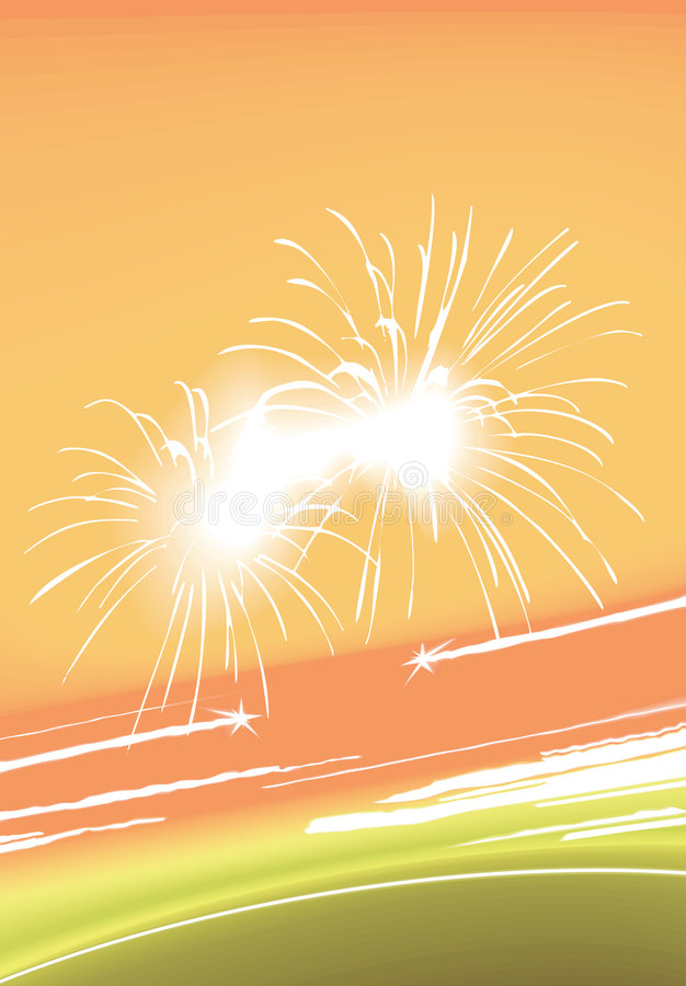 Colorful fireworks and lights. Abstract texture with stars and fireworks royalty free illustration