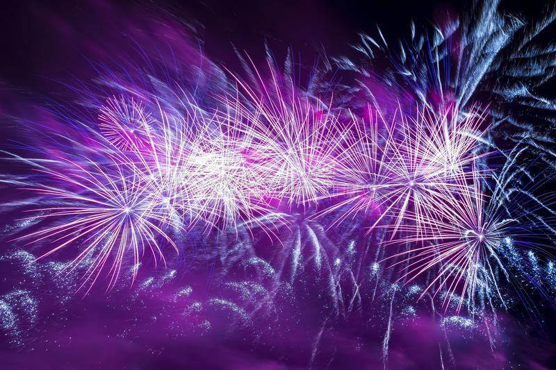 Colorful fireworks, night photo royalty free stock images
