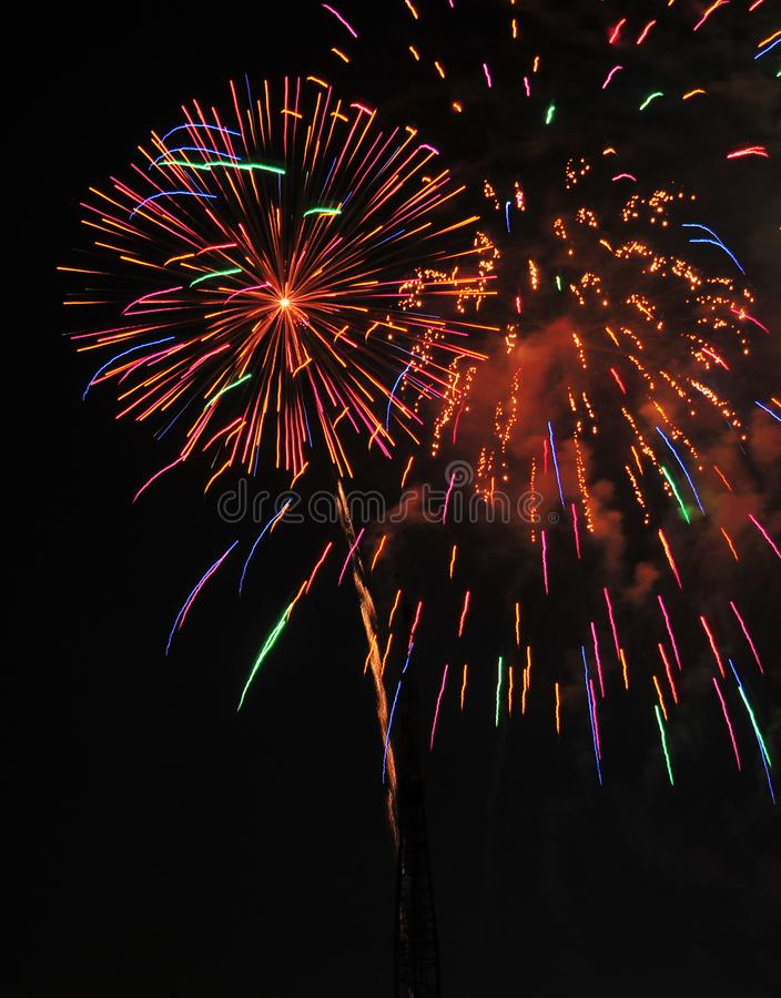Download Colorful Fireworks In Night Sky Stock Photo - Image: 100372176