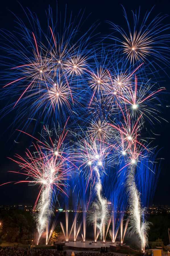 Download Colorful Fireworks Over Dark Sky Stock Photo - Image: 24983302