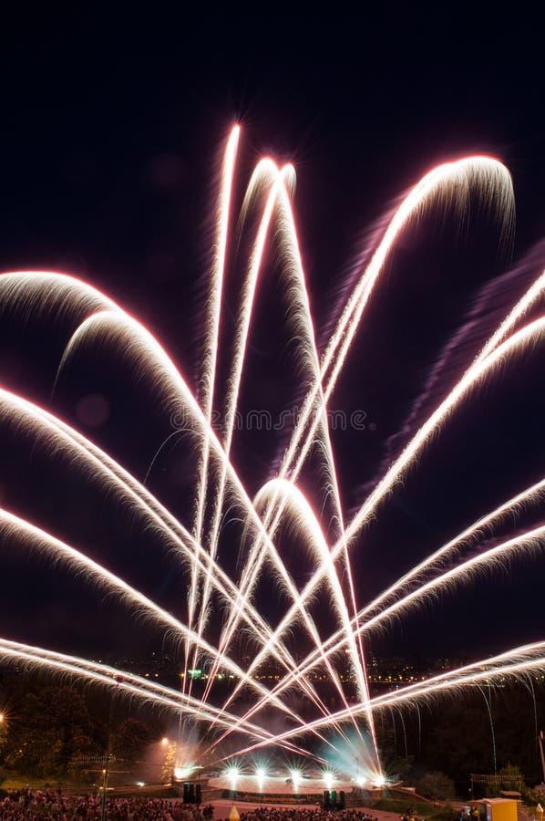 Download Colorful Fireworks Over Dark Sky Stock Image - Image: 24983521