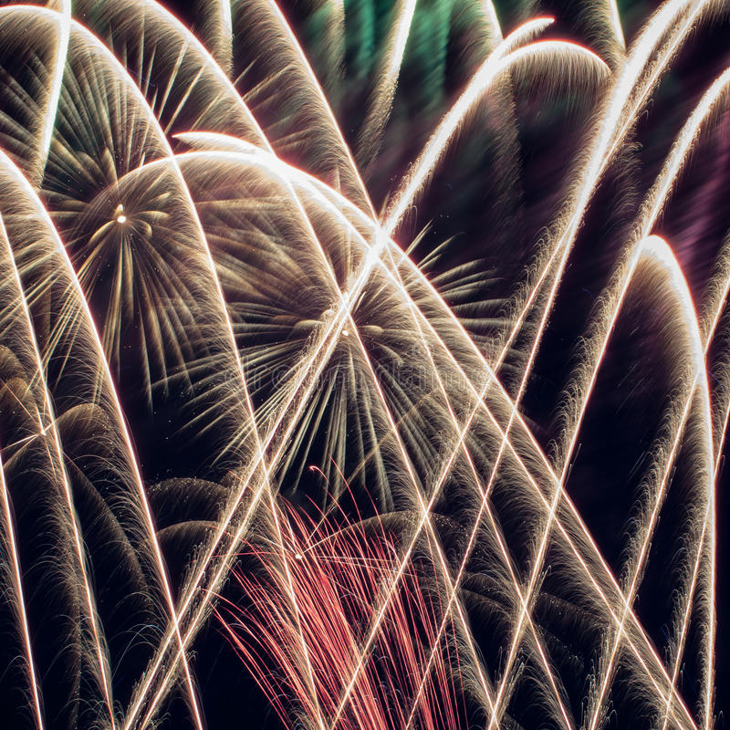 Download Colorful Fireworks Over Dark Sky Stock Photo - Image: 28495892