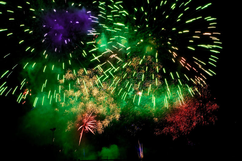 Download Colorful Fireworks Over A Night Sky Royalty Free Stock Photo - Image: 11102275
