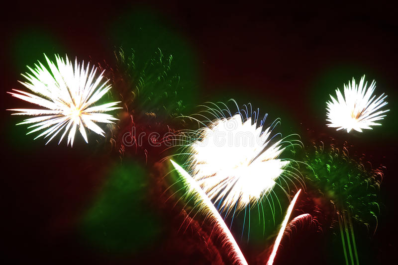 Download Colorful Fireworks Over A Night Sky Royalty Free Stock Images - Image: 11102359