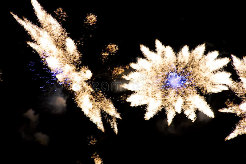 Download Colorful Fireworks Over A Night Sky Royalty Free Stock Photos - Image: 11102438