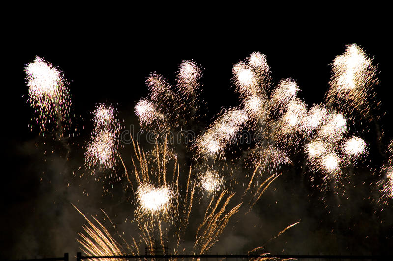Download Colorful Fireworks Over A Night Sky Royalty Free Stock Photo - Image: 11236745