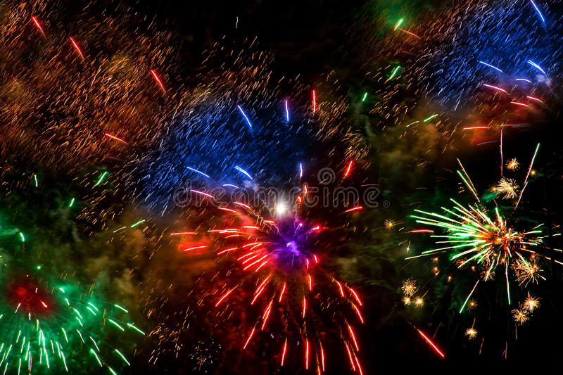 Download Colorful Fireworks Over A Night Sky Royalty Free Stock Photos - Image: 11237128