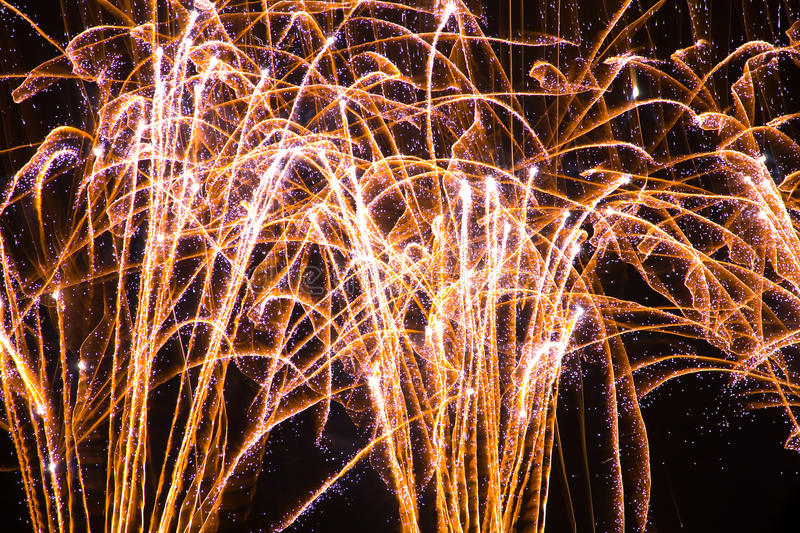 Download Colorful Fireworks Over A Night Sky Royalty Free Stock Photos - Image: 11255778
