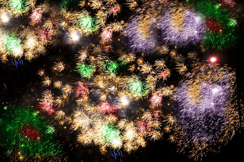 Download Colorful Fireworks Over A Night Sky Stock Photo - Image: 11255822
