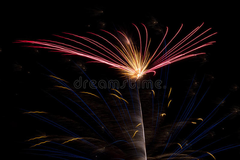 Download Colorful Fireworks Pattern stock photo. Image of aerial - 15582718