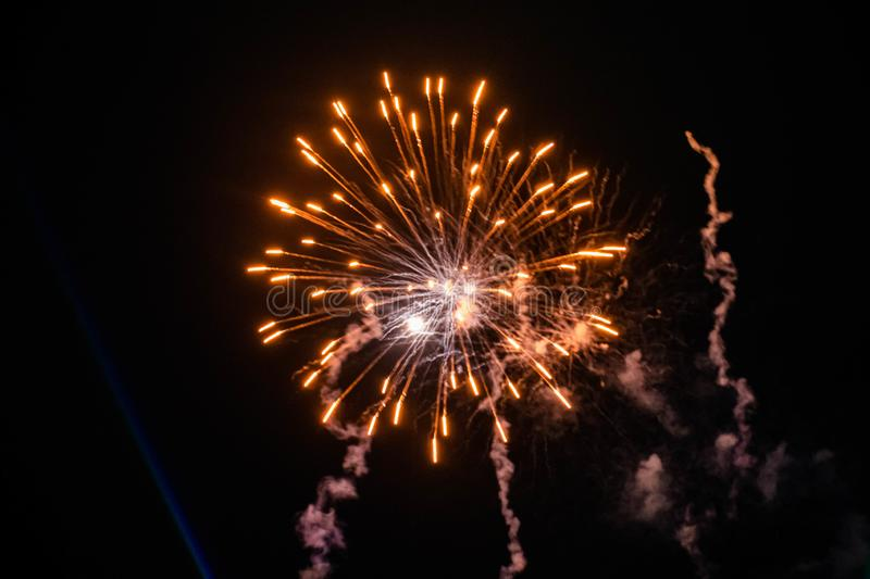 Colorful fireworks in Summer Nights 15 stock photography