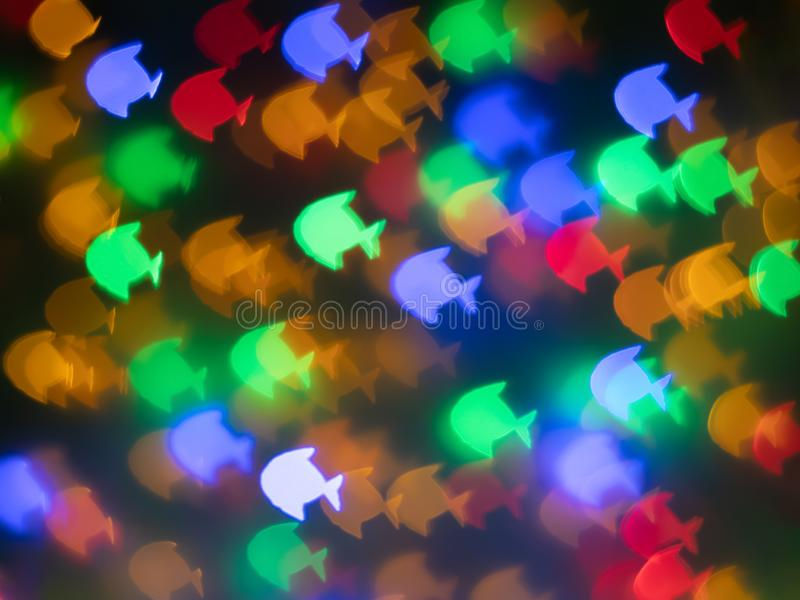 Colorful fishs bokeh for background stock photos