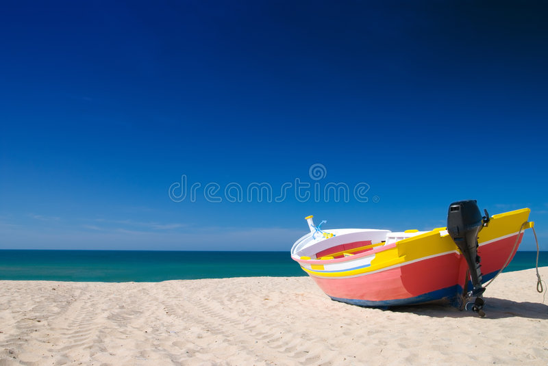 Colorful Fishing Boat royalty free stock images