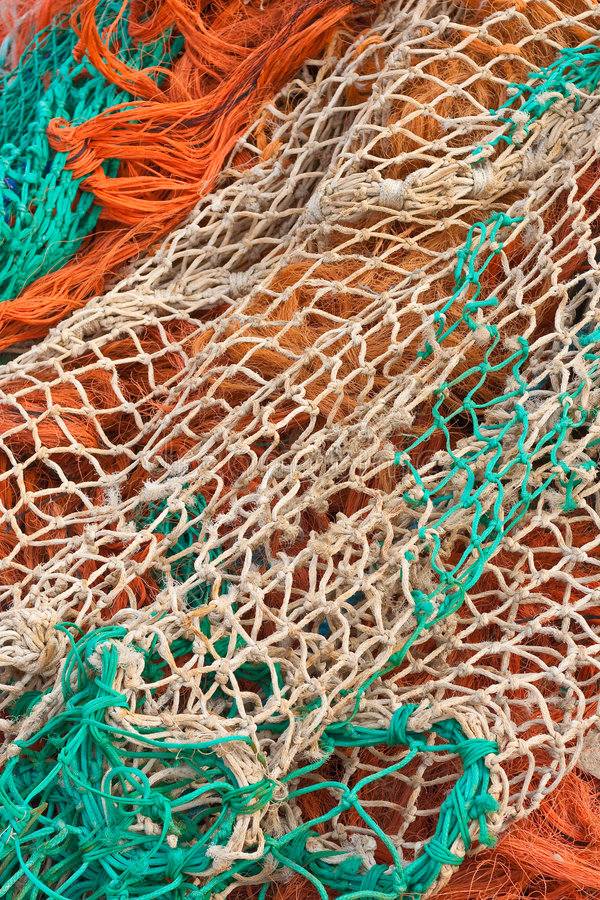Colorful fishing nets (2) royalty free stock image