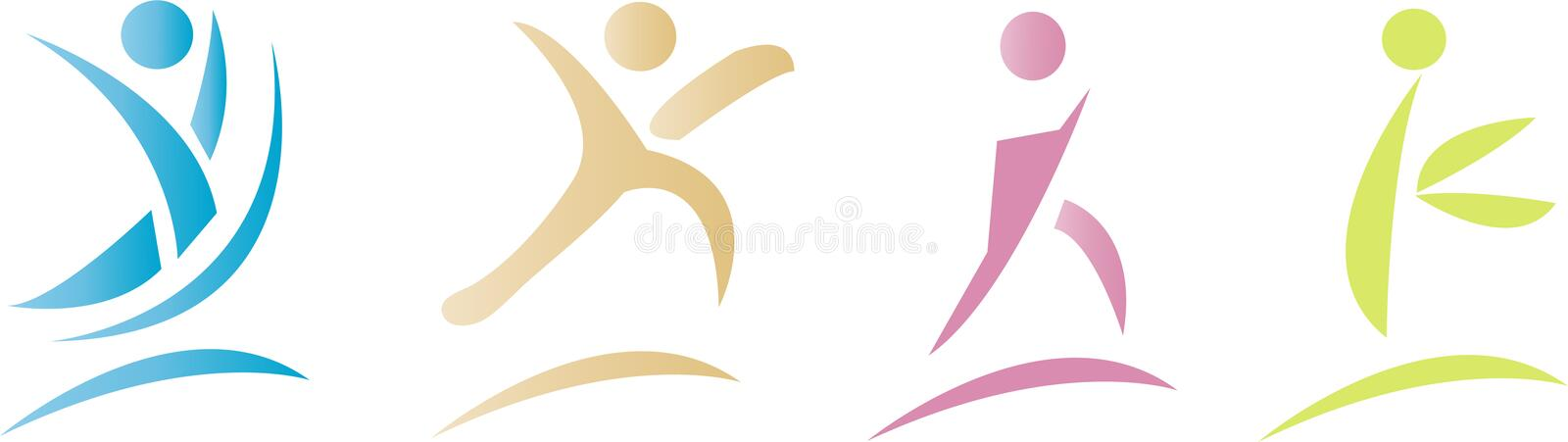 Download Colorful fitness icons stock vector. Illustration of care - 14847531
