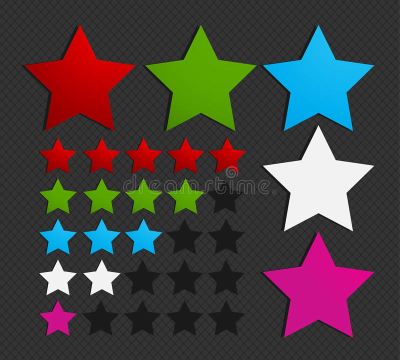 Colorful five star set