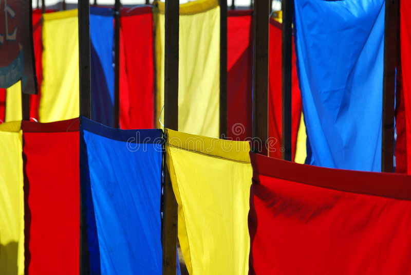 Colorful flags royalty free stock photo
