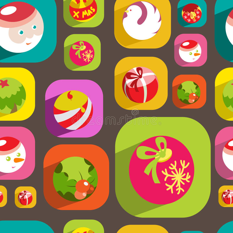 Download Colorful Flat Christmas Seamless Background Stock Vector - Illustration: 34603136