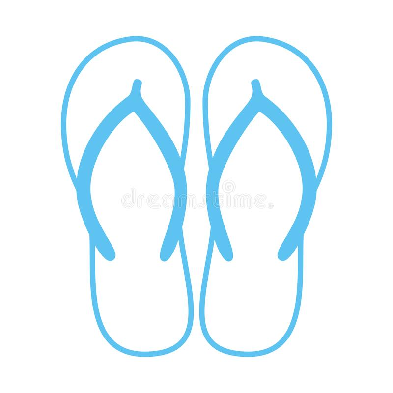 Free Colorful Flip Flops. Beach Slippers. Sandals. Vector Icon Isolated On White Royalty Free Stock Images - 120226889
