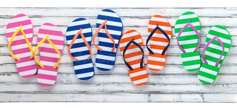 Colorful Flip Flops. stock photos