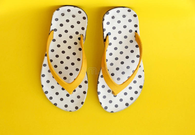Colorful flip-flops royalty free stock image
