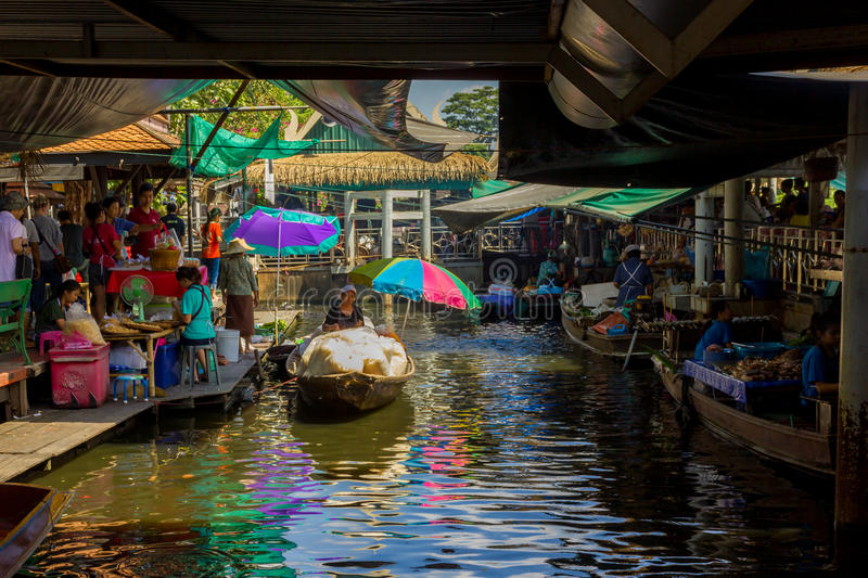 Colorful Floating Market royalty free stock images