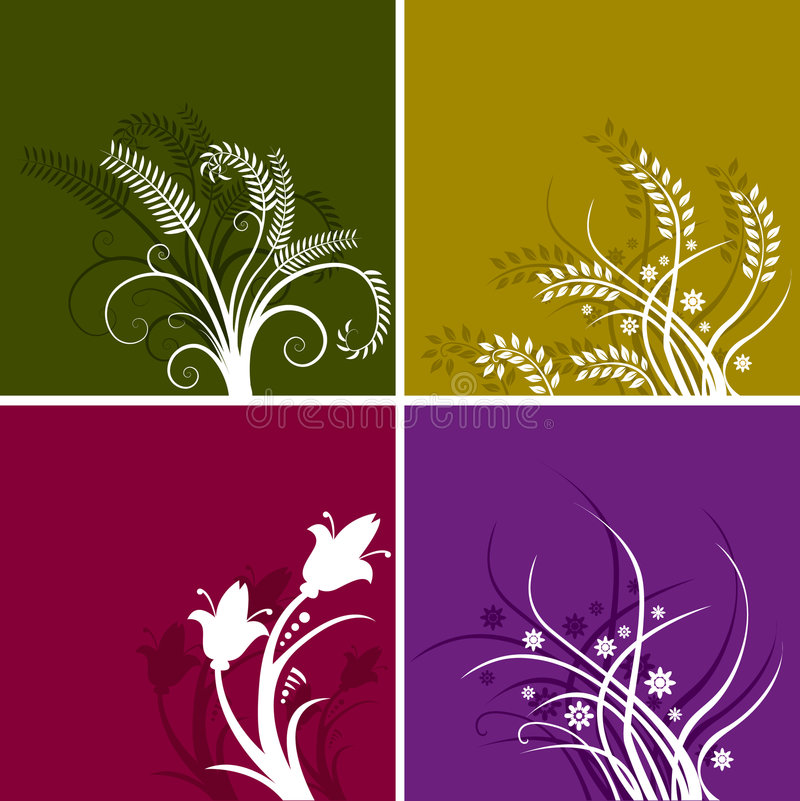 Colorful floral backgrounds stock illustration