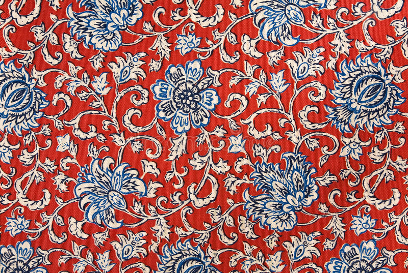 Download Colorful Floral Cotton Tapestry Fabric Background Stock Image - Image: 7979815