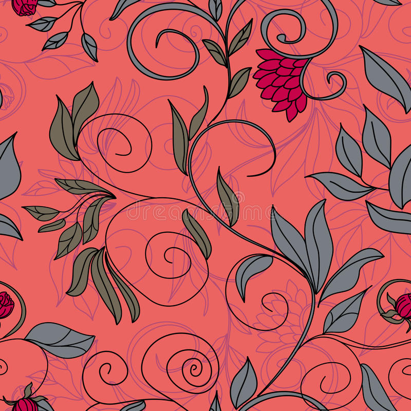 Colorful floral seamless pattern stock photos