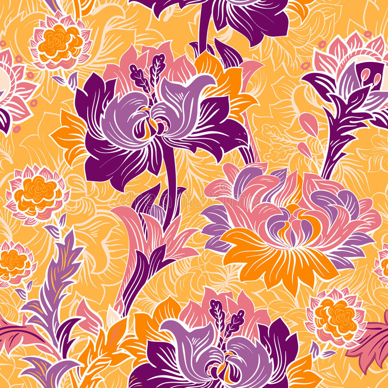 Colorful floral seamless pattern vector illustration