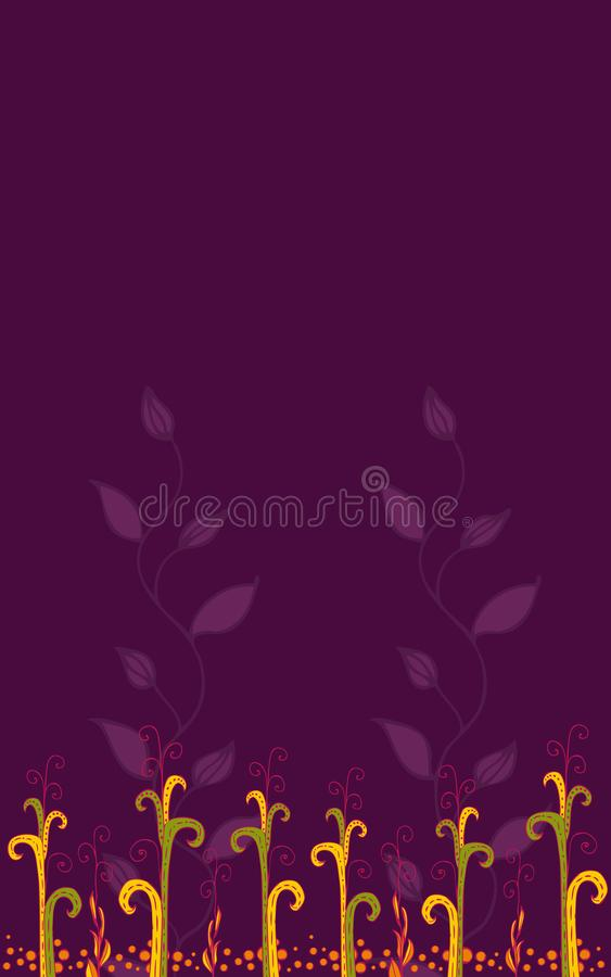 Colorful floral background stock illustration