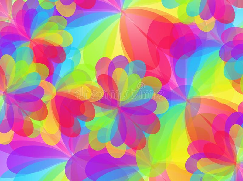 Colorful floral texture. Happy rainbow colorful floral texture vector illustration